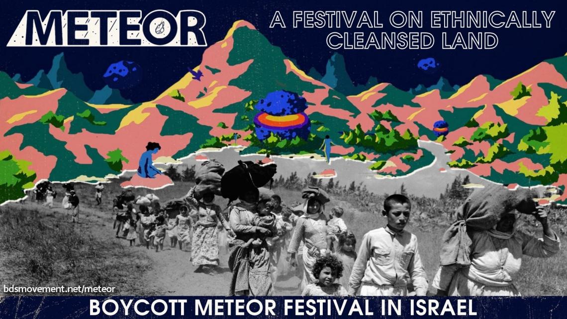 Boycott Meteor Festival in Israel - BDS 2018